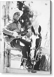 Gene Autry Acrylic Print by Silver Screen