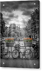 Gentlemens Canal Amsterdam Acrylic Print by Melanie Viola