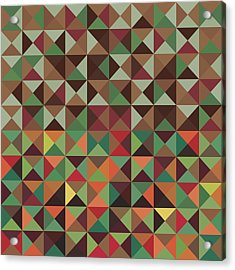 Acrylic Print featuring the digital art Geometric Pattern by Mike Taylor
