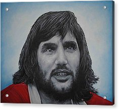 Acrylic Print featuring the painting George Best 'belfast Boy' by David Dunne