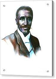 George Washington Carver Acrylic Print by Gwen Shockey