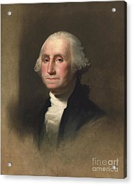 George Washington Acrylic Print by Rembrandt Peale