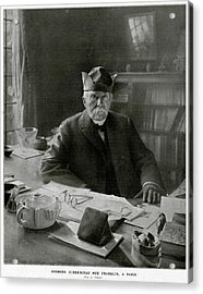 Georges Clemenceau  French Statesman Acrylic Print by Mary Evans Picture Library