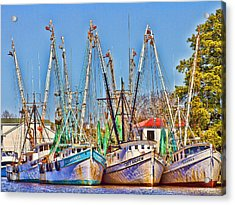 Georgetown Shrimpers Acrylic Print