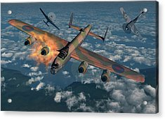 German Fw-190 Fighter Planes Attacking Acrylic Print