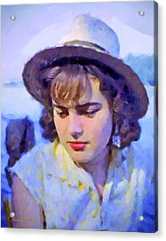 German Girl On The Rhine Acrylic Print