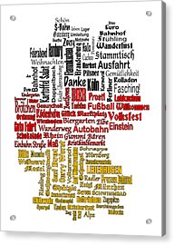 Germany Map Acrylic Print