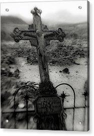Ghost Town Cross Acrylic Print by Sonja Quintero