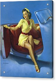 Gil Elvgren's Pin-up Girl Acrylic Print