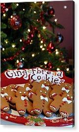 Gingerbread Cookies On Platter Acrylic Print