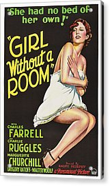 Girl Without A Room, Marguerite Acrylic Print by Everett