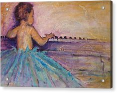 Girls Just Need To Have Fun Acrylic Print by Valerie Greene