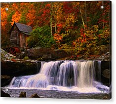 Glade Creek Grist Mill Acrylic Print by Chris Flees