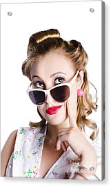 Glamorous Woman In Sunglasses Acrylic Print