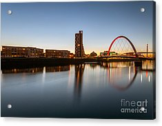 Glasgow Clyde Arc  Acrylic Print by John Farnan