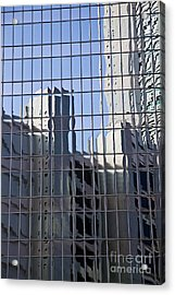 Glass Wall With The Reflection  Acrylic Print by IB Photography