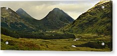 Acrylic Print featuring the photograph Glen Etive Highlands Of Scotland by Jane McIlroy