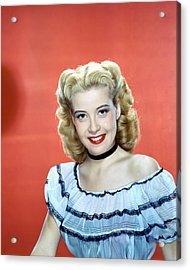 Gloria Dehaven Acrylic Print by Silver Screen