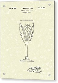 Goblet 1932 Patent Art Acrylic Print by Prior Art Design