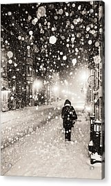 Acrylic Print featuring the photograph Going Home by Arkady Kunysz