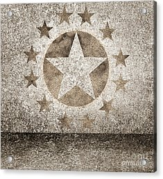 Gold Star Hollywood Event Background. Walk Of Fame Acrylic Print by Jorgo Photography - Wall Art Gallery