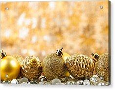 Golden Christmas  Acrylic Print