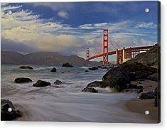 Golden Gate Bridge Acrylic Print by Evgeny Vasenev