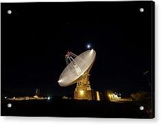 Goldstone Observatory At Night Acrylic Print by Nasa/jpl-caltech