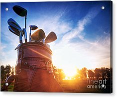 Golf Gear Acrylic Print by Michal Bednarek