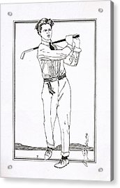 Golfer 1915 Acrylic Print