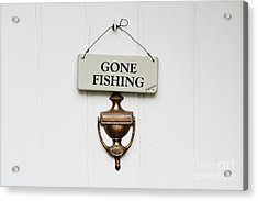 Gone Fishing Forever Acrylic Print by Tim Gainey