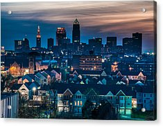 Good Night Cleveland Acrylic Print