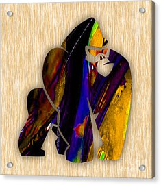 Gorilla Painting Acrylic Print