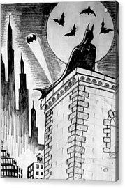 Acrylic Print featuring the painting Gotham  by Salman Ravish