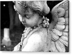 Gothic Cherub Statue Acrylic Print by Glenn McGloughlin