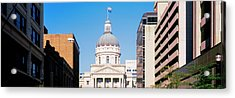 Government Building In A City, Indiana Acrylic Print by Panoramic Images