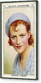 Gracie Fields  English Singer Acrylic Print by Mary Evans Picture Library