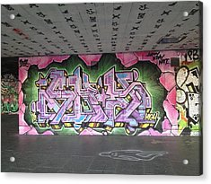 Graffiti Southbank Acrylic Print by Maeve O Connell