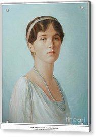 Grand Duchess Olga Nikolaevna Of Russia Acrylic Print by George Alexander