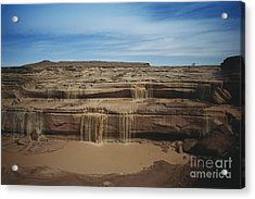 Grand Falls Of The Little Colorado Acrylic Print by Mark Newman