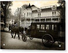 Grand Hotel Taxi Acrylic Print by Scott Hovind