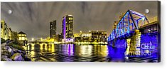 Grand Rapids Panorama Acrylic Print by Twenty Two North Photography
