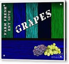 Grape Farm Acrylic Print by Marvin Blaine