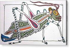 Grasshopper II Acrylic Print by Kruti Shah