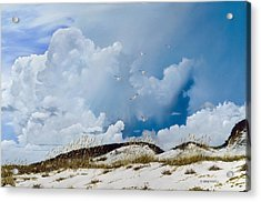 Acrylic Print featuring the painting Grayton Beach by Rick McKinney