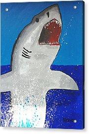 Giant Great White Acrylic Print by Ethan Chaupiz