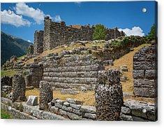 Greece. Ruins Of Ancient Dodoni Acrylic Print