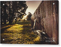 Green Farm Paddock Landscape. Outback Australia Acrylic Print