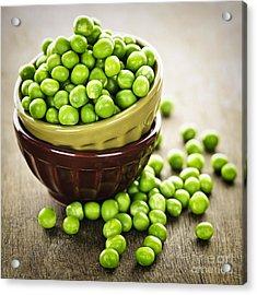 Green Peas Acrylic Print by Elena Elisseeva