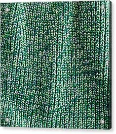 Green Wool Acrylic Print by Tom Gowanlock